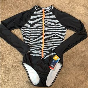 Speedo one piece/rash guard